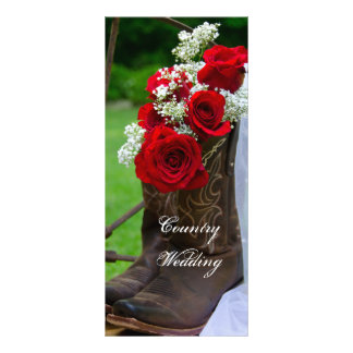 Rustic Roses and Cowboy Boots Wedding Program