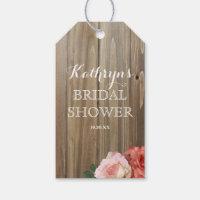 Rustic Roses | Bridal Shower Favor Tags