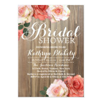 Rustic Roses | Bridal Shower Invitations