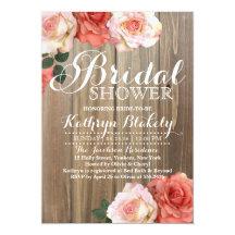 Bridal shower invitations zazzle filmwisefo Gallery
