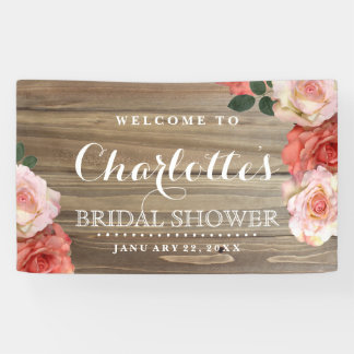 Rustic Roses | Bridal Shower Welcome Banner