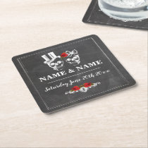 Rustic Roses Coasters Place Matts Wedding Party