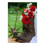 Rustic Roses Country Post Wedding Brunch Personalized Announcement