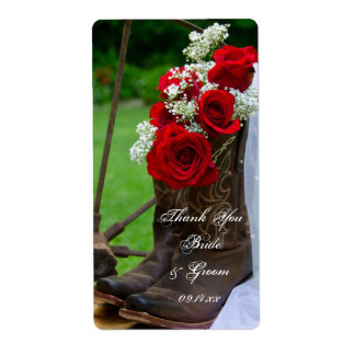 Rustic Roses Country Wedding Thank You Label