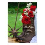 Rustic Roses Country Wedding Thank You Notes Custom Invitation