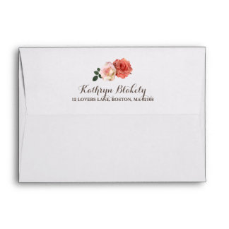Rustic Roses | Rustic Envelope with Return Address