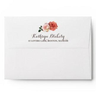 Rustic Roses | Rustic Envelope with Return Address