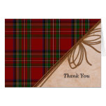 Rustic Royal Stewart Plaid Thank You Note Card
