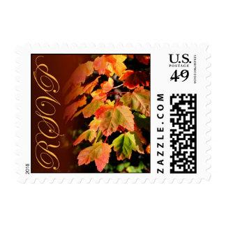 Rustic RSVP Fall Wedding Autumn Weddings Invite Postage