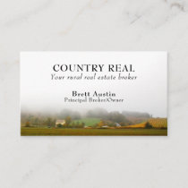 Rustic Rural Country Real Estate Broker Agent Business Card