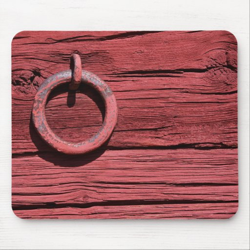 Rustic Rural Red Wooden Barn Mouse Mat Mouse Pad