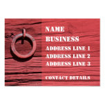 Rustic Rural Red Wooden Barn Wall Bookmark ATC Business Card Templates