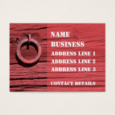 Rustic Rural Red Wooden Barn Wall Bookmark ATC Business Card at Zazzle