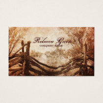 rustic rural western country ranch farm business card