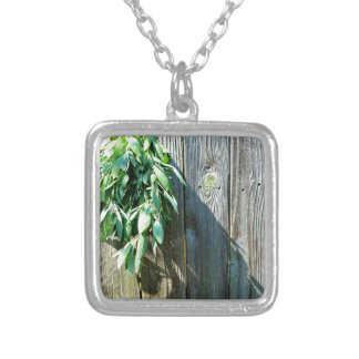 Rustic Sage Silver Plated Necklace