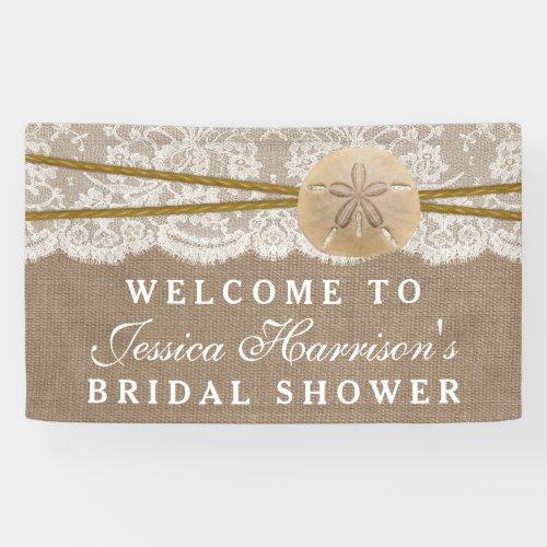 Rustic Sand Dollar Beach Bridal Shower Banner