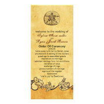 rustic sand dollar beach wedding program