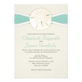 Rustic Sand Dollar Wedding Invitations Custom Invitations