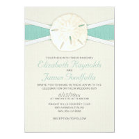 Rustic Sand Dollar Wedding Invitations