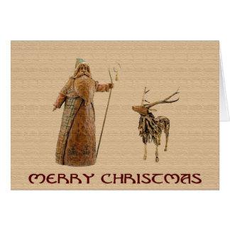 Rustic Santa Christmas Greeting Card