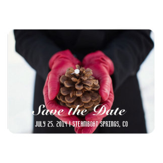 Rustic Save the Date Card