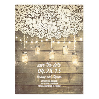 Rustic Save The Date Postcards | Zazzle