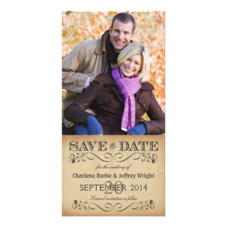 Rustic Save the Date Wedding Photocards Photo Card