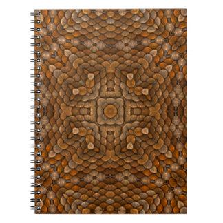 Rustic Scales Vintage Kaleidoscope Notebook