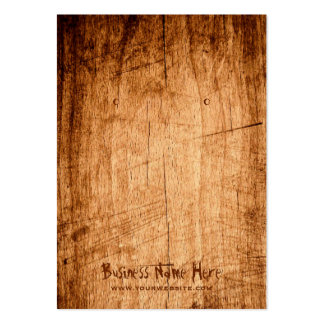 Rustic Scratched Wood Grain Earring Display Card