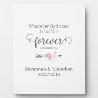 Rustic Scripture Christian Art Wedding Gift Photo Plaques