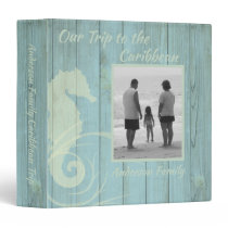 Rustic Sea Green Family Photo Vacation Album 3 Ring Binder