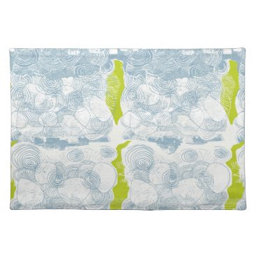 Beach Themed Rustic Sea Shell Pattern Placemat
