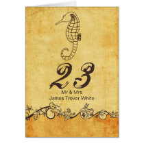 rustic seahorse beach wedding table numbers