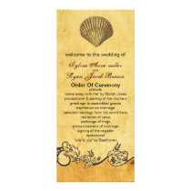 rustic seashell  beach wedding program