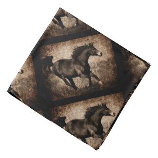 Rustic Sepia Galloping Horse Bandana
