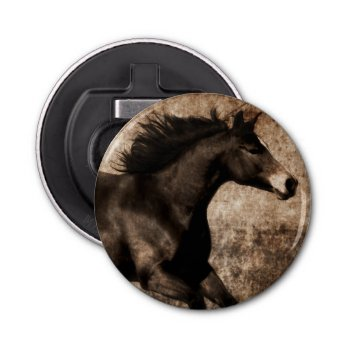 Rustic Sepia Galloping Horse Bottle Opener