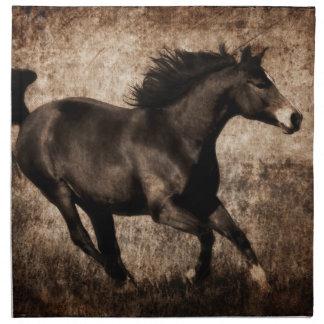 Rustic Sepia Galloping Horse Cloth Napkin