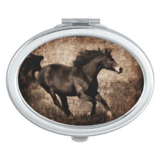 Rustic Sepia Galloping Horse Vanity Mirrors