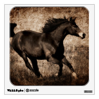 Rustic Sepia Galloping Horse Room Stickers