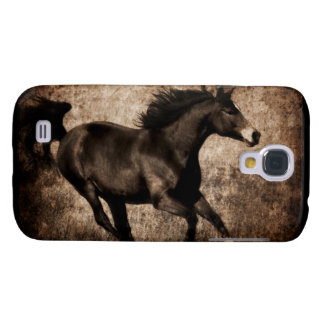 Rustic Sepia Galloping Horse Samsung S4 Case