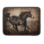 Rustic Sepia Galloping Horse Sleeves For MacBook Pro