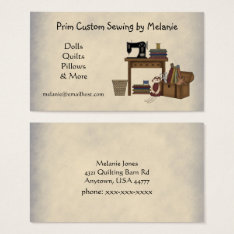 Rustic Sewing Arts Business Card at Zazzle