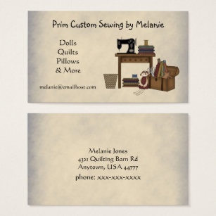 Sewing business cards templates zazzle rustic sewing arts business card colourmoves
