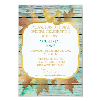 Rustic Shabby Birthday Wedding Green Golden Card