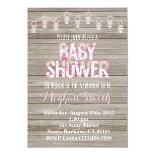 Rustic Shabby Chic Baby Shower Invitation
