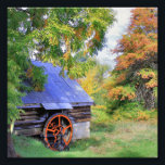 "Rustic Shed Landscape Photo Print<br><div class=""desc"">A rustic shed with water-wheel in a forested landscape in early autumn.</div>"