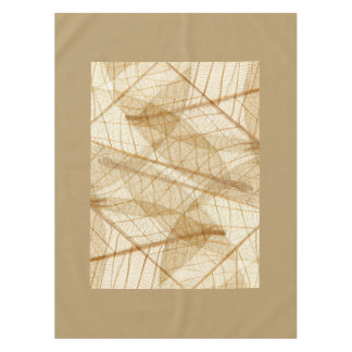Rustic Sheer Cream Lace Leaves Tablecloth