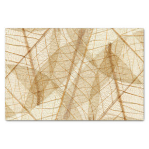 Rustic Sheer Cream Lace Leaves Tissue Paper