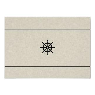 Rustic Ship Wheel Card