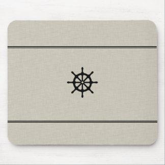 Rustic Ship Wheel Mouse Pad